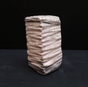 Lantern - raku ceramic pottery
