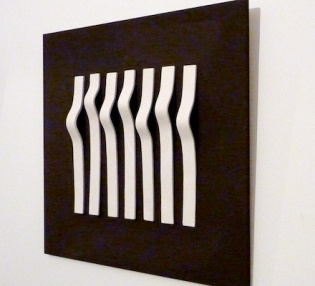 Clay meets wood- Wall piece (side view)