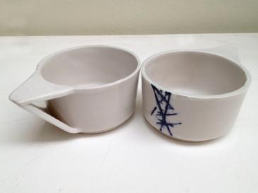 Stoneware ceramic tea cups ©Clayandmore
