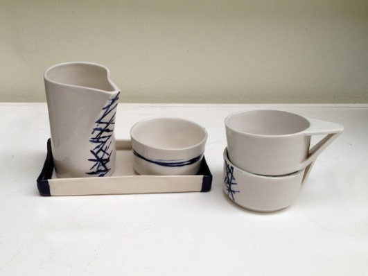 Stoneware ceramic tea set clayandmore