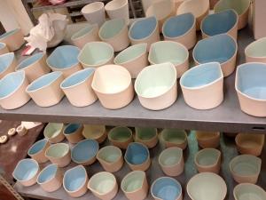 porcelain bowls Franz pre firing