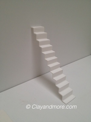 Getrapt - white porcelain staircase - Clayandmore