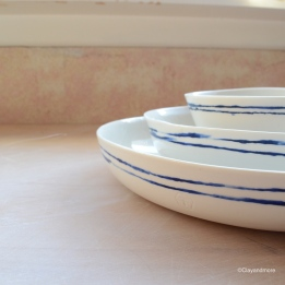 striped porselein servies