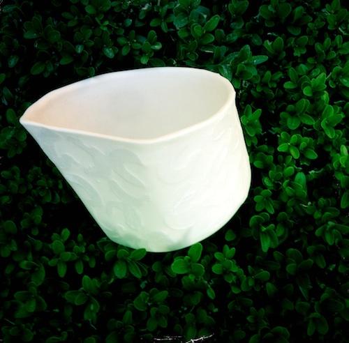 tea lights relief snow white porcelain