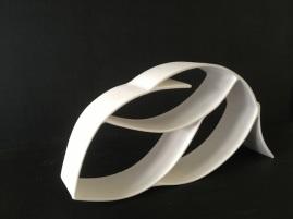 the big swirl - porcelain sculpture