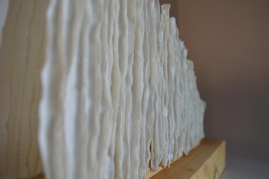 Bamboo lamp - porselein door Clayandmore